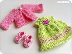 with love (_vasilka_) Tags: doll dress handmade crochet knit clothes yarn brownie bjd puki
