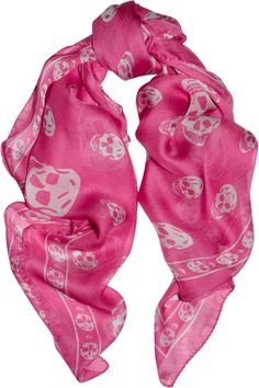 Alexander McQueen | Skull-print silk-chiffon scarf | NET-A-PORTER.COM This is THE scarf to have. 295.00$ ...( expensive but it is Mc Queen...)