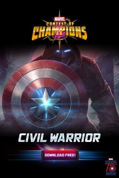 Celebrate Captain America's 75th anniversary! Download Marvel Contest of Champions and add the Civil Warrior to your team!