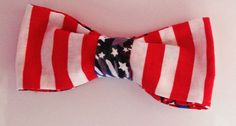 July 4th Patriotic Dog Bow Tie for Male Dog