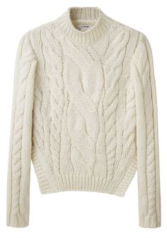 Carven Short Cable Sweater, found on Sweater And Shorts, Cable Knit Sweaters, Long Sleeve Sweater, Pullover Sweaters, Carven, Fashion Over, I Dress, Knitwear, Cool Outfits