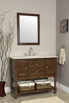 42-Transitional-Single-Sink-Bathroom-Vanity-Open-Base-Cherry-Cabinet-Marble