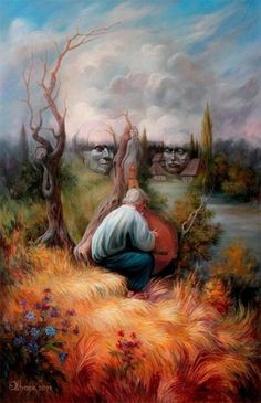 Oleg Shuplyak is a talented Ukrainian oil painter who uses hidden images to turn his artworks into mind-blowing optical illusions. Optical Illusion Paintings, Art Optical, Optical Illusions, Illusion Kunst, Illusion Art, Street Art, Illusion Pictures, Hidden Images, Surrealism Painting