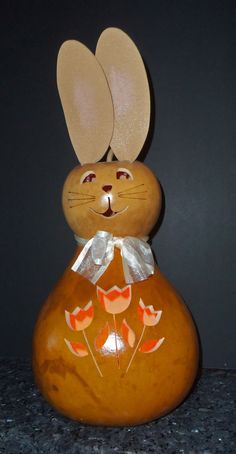 Large Easter Bunny GOURD; by Meadowbrooke