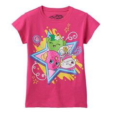 Girls 4-6x Shopkins D'Lish Donut, Apple Blossom & Sneaky Wedge Graphic Tee, Girl's, Size: