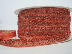 Craft supplies and Handmade Tassels by ichimylove Bulk Ribbon, How To Make Headbands, Orange Glitter, Glitter Ribbon, Purse Handles, Fun Projects, Great Gifts, Unique Jewelry, Metal