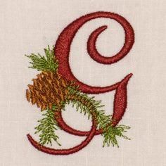 Christmas Pine Alphabet- G