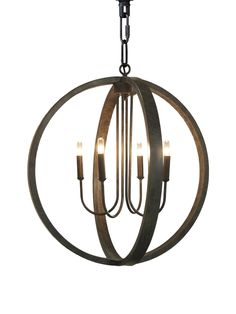 four metal meridians point in four cardinal directions in the industrial modern abel pendant by Noir. in the abel, a timeless, spherical design, made of antiqued metal, holds a 4 arm chandelier at the core to light your room with style and ambiance.  - four 60 watt max type B light bulbs, (bulbs not included) - includes 6' of chain and cord + large canopy with antique finish - UL Listed + damp rated  red's online exclusives are available as special orders + are not currently available ...