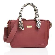 BCBG Paris Animal Print Scarf Satchel Handbag