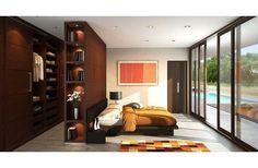 wardrobe behind bed Bedroom Closet Design, Dream Bedroom, Master Bedroom, Large Bedroom, Modern Bedroom, Modern Closet, Wardrobe Behind Bed, Bedroom Layouts, Modern House Plans