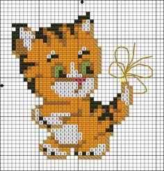 Cross Stitch Thread, Cat Cross Stitches, Mini Cross Stitch, Cross Stitch Cards, Cross Stitch Fabric, Cross Stitch Animals, Cross Stitching, Modern Cross Stitch Patterns, Cross Stitch Designs