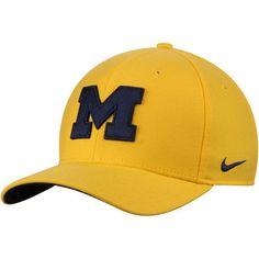 c4f756450c7 Men s Nike Gold Michigan Wolverines Swoosh Performance Flex Hat