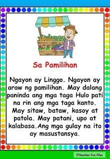 Begin reading with Filipino reading passages which can help you practice your reading, speed and comprehension. Passages include the fol. Grade 1 Reading, Reading Practice, Reading Comprehension For Kids, Reading Passages, Story For Grade 1, Children Reading, Beginning Reading, Tagalog, Kindergarten Teachers
