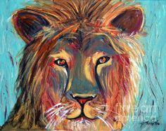 Colorful Lion by Jeanne Forsythe