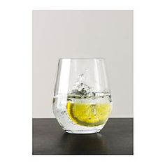 IKEA - IVRIG, Glass, The glass has a large round bowl which allows you to also use it as a red wine glass without a foot, as the shape helps the aromas and flavours of the wine to develop better.