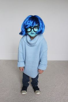 Sadness from Inside Out DIY Costume Tutorial. For more costume ideas for Mickeys Not So Scary check out HowtoMCO.com