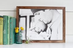 Turn a sentimental photo into an unforgettable canvas keepsake. Finish it off with a DIY handmade frame for an extra special touch.