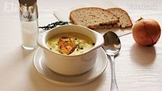 Cibuľovo-zemiaková polievka (fotorecept) - recept   Varecha.sk Tea Cups, Veggies, Tableware, Kitchen, Vegetable Recipes, Dinnerware, Cooking, Vegetables, Tablewares