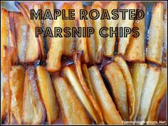 Maple Roasted Parsnip Chips