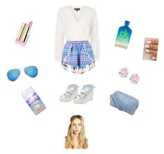 Summer is blue by cansu-celebi on Polyvore featuring polyvore, fashion, style, Topshop, Boohoo, Miu Miu, Swarovski, Ray-Ban and CK One