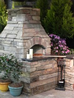wood fire pizza oven will be in the yard to make dinner in.  #designsponge #dssummerparty