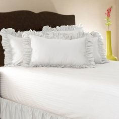 Share this page with others and get 10% off! Simply Ruffle Pillow Cover - White