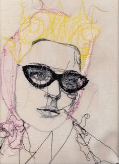 New embroidery fashion illustration textile artists Ideas Free Motion Embroidery, Embroidery Fashion, Embroidery Art, Thread Art, Thread Painting, Art And Illustration, Stitch Drawing, Bordados E Cia, Postcard Printing