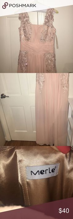 💃🏼Beautiful Floor Length Ball Gown Light pink beige color, never worn just tried on Dresses Prom