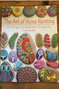 The Art of Stone Painting:  Book Review.  Adults and Kids LOVE to paint rocks.  What are YOU waiting for?
