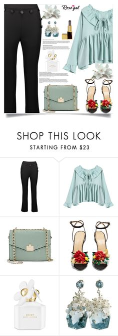 """""""Rosegal  36"""" by nejra-l ❤ liked on Polyvore featuring Jennifer Lopez, Charlotte Olympia, Marc Jacobs, Tom Ford, Summer, dress, promotion and rosegal"""