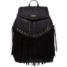 Faith Fringe Detail Whipstich Backpack (825.760 IDR) ❤ liked on Polyvore featuring bags, backpacks, lipsy, rucksack bag, knapsack bag, fringe backpack and day pack backpack