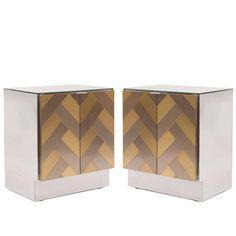Brass And Bronzed Mirrored Platform Bed By Ello Platform Beds - Ello bedroom furniture