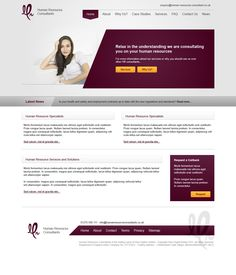 Human Resources Consultants Website Design