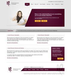 Human Resources Consultants Website Design