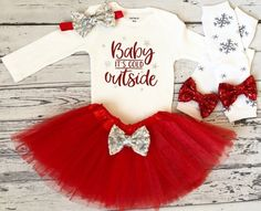 Excited to share this item from my shop: Baby Its Cold Outside Baby Girl Christmas Outfit Red Tutu Newborn Girl Christmas Shirt Christmas Bodysuit Christmas Baby Its Cold Outfit Girls Christmas Shirts, Christmas Tutu, Newborn Christmas, Christmas Child, Christmas Decorations, Baby Girl Shirts, Shirts For Girls, Baby Girl Items, Baby Design