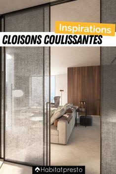 Partition Design, Glass Partition, Design Your Home, Home Interior Design, Sliding Glass Door, Interior Sliding Doors, Interior Door, Japanese Interior, Cool House Designs