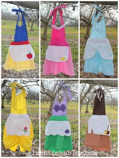 The Princess Play Apron Tutorial. 6 Styles, 1 Tutorial. Fits 3T-7yrs!