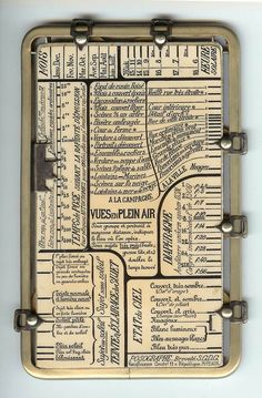 """Kaufmann's Posographe.    An instrument for calculating aperture and exposure time when taking photographs in any possible situation.    For outdoors, it includes settings with values like """"Snowy scene"""", """"Greenery with expanse of water"""", or """"Very narrow old street"""", """"Cloudy and somber"""", """"Blue with white clouds"""", or """"Purest blue"""". #Photography"""