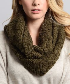 Loving this Leto Collection Olive Bouclé Infinity Scarf on #zulily! #zulilyfinds