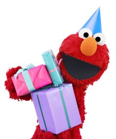 Happy birthday to Elmo – he's three and a half today (and every day)!