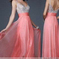 Stock New BEADED Chiffon Long Formal Prom Party Ball Cocktail Evening Dress