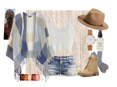 """""""Camping"""" by kgirl114 on Polyvore featuring Barbour, Dorothy Perkins, Olivia Burton, Olivine, rag & bone and NYX"""