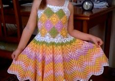 Crochet dress patterns free, for children and for sure that girls will leave the girls especia...