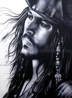 Cpt. Jack Sparrow- Johnny Depp by superchickenn123.deviantart.com on @deviantART