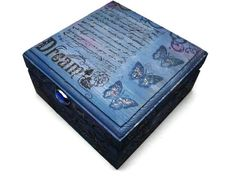 Butterfly  Keepsake Box Jewelry Box Indigo Dreams by missbohemia, $19.00