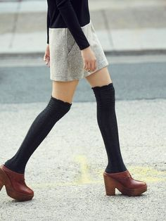 Love this socks + clogs combo.