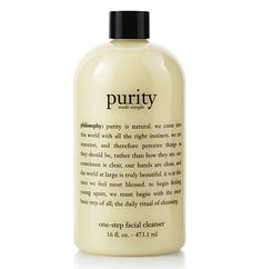 After a long, hard day of being you, a hardworking cleanser is in store for your face and skin. Different nutrients, minerals and oil extracts fuse together to create the Purity Made Simple One-Step F