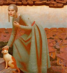 Medieval Style Paintings by Andrej Remnev – Fubiz Media The Volga river 2007, 120x110, oil on canvas