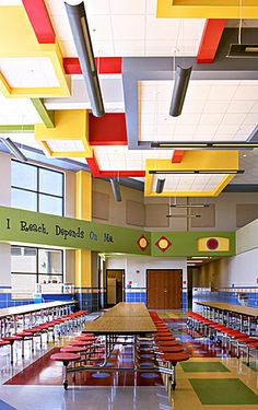 spacious canteen at school interior design ideas for the house pinterest. Black Bedroom Furniture Sets. Home Design Ideas