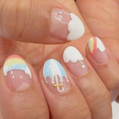 💛 art line desenhosanimados pictures forwork pink sea healthy nachtisch sandwich Pastel Nail Art, Cute Acrylic Nails, Acrylic Nail Designs, Easy Nail Art Designs, Pedicure Nail Art, Nail Manicure, Gel Nails, Kawaii Nail Art, Cute Nail Art